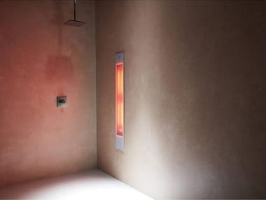 Doccia solare a raggi UV e infrarossi ad incasso PURE XL | White