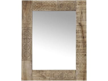 Framed wooden mirror PURO | Mirror
