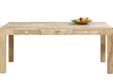 Wooden dining table with drawers PURO | Table