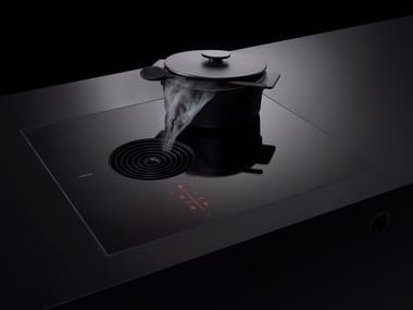 Piano cottura a induzione filo top con cappa integrata PURSA