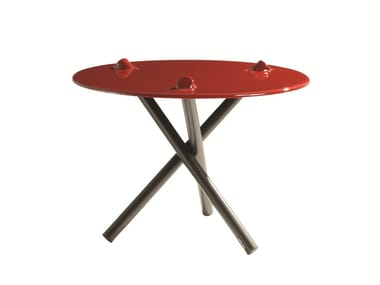 Round Daquacryl® side table PUSH | Side table