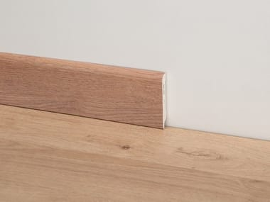 PVC Skirting board with wood effect PVC Line 8605