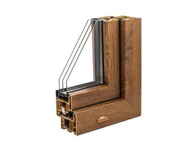 Finestra a battente in PVC con triplo vetro PVC POWER82