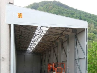 Steel and PVC mobile structure PVC Tunnel