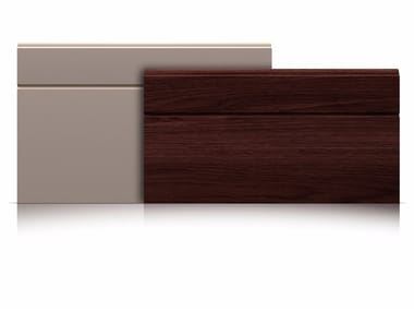 Sectional garage door Panels with asymmetrical groove