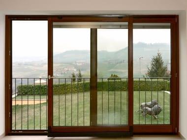 Porta-finestra complanare in legno Porta-finestra complanare