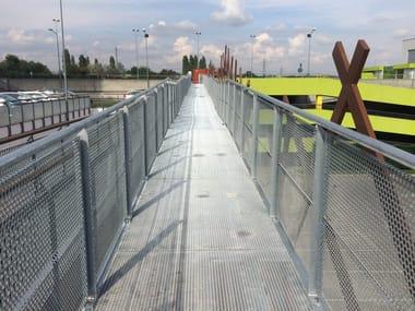 Metal Suspended walkway Pedestrian walkways