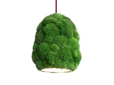 Pendant lamp with cushion moss Pendant lamp
