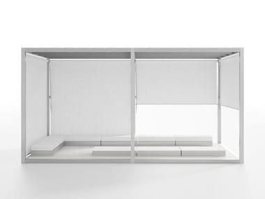 Freestanding aluminium pergola Module Floor Polyethylene Roof