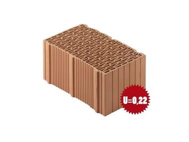 Blocco in laterizio rettificato per murature da tamponamento Porotherm BIO PLAN 38-25/19,9 T - 0,09