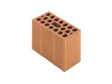 Mezzo blocco in laterizio modulari per murature portanti antisismiche Porotherm Modulare 25-12/19 (45)