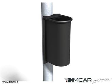 Steel ashtray Posacenere Cicco con attacco su palo