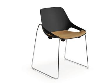 Sled base polypropylene chair Q.5   Sled base chair