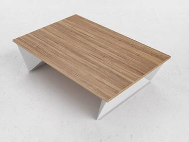 Rectangular steel and wood coffee table Q4 | Coffee table