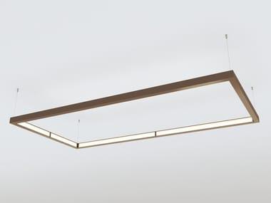 LED direct-indirect light aluminium pendant lamp QUAD