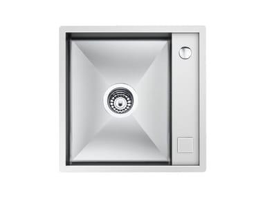 Single flush-mounted stainless steel sink QUADRA 40 BANCO LT.RIB.FT