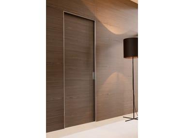 Porta scorrevole a scomparsa in legno in stile moderno QUADRA | Porta scorrevole a scomparsa