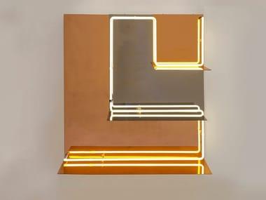 Indirect light steel wall lamp QUADRI LUMINOSI