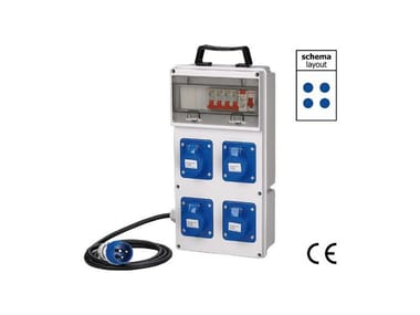 Quadro elettrico da cantiere QUADRO ASC DA CANTIERE IP 44 230 VOLT