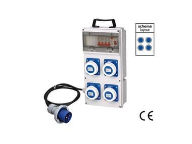 Quadro elettrico da cantiere QUADRO ASC DA CANTIERE IP 55 4 230 VOLT