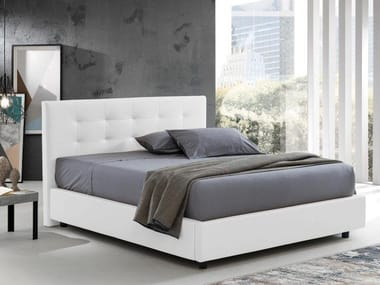 Eco-leather storage bed QUADROTTO DUPLEX