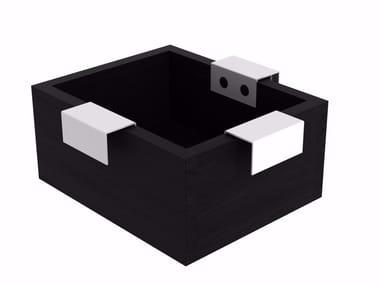 Wooden storage box QUALITIME BLACK | Storage box