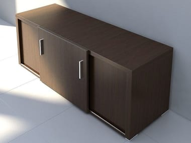 Office storage unit with hinged doors QUANDO | Office storage unit