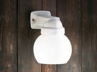 Lampada da parete in ceramica con braccio fisso QUARANTA | Lampada da parete in ceramica