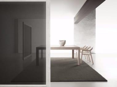 Extending square wooden table QUARTETTO