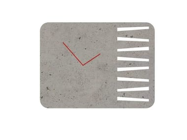 Wall-mounted cement clock TIME SQUARE & ROUND