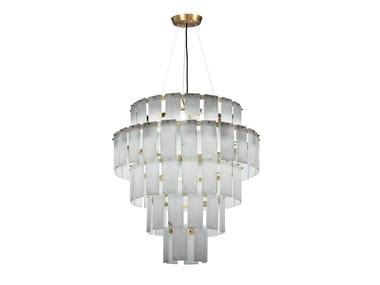 LED alabaster pendant lamp QUARZ | Pendant lamp