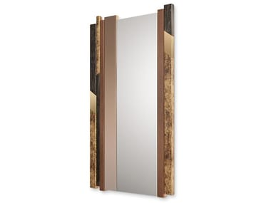 Rectangular wall-mounted mirror with integrated lighting QUARTZ
