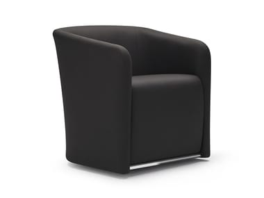 Upholstered fabric easy chair QUATRO