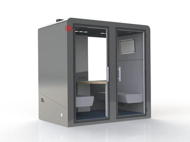 Acoustic & connected office pod for four people QUATRO PROCYON