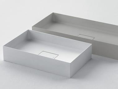 Lavabo rettangolare in Ceramilux® QUATTRO.ZERO – D8J