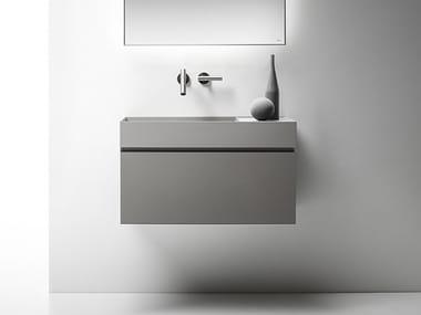 Mobile lavabo laccato sospeso con cassetti QUATTRO.ZERO | Mobile lavabo