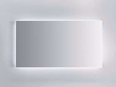 mirror with integrated lighting. zero wallmounted bathroom mirror with integrated lighting e
