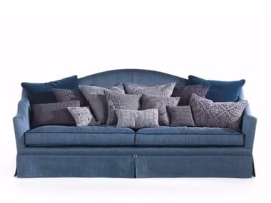 Upholstered 3 seater fabric sofa QUEEN