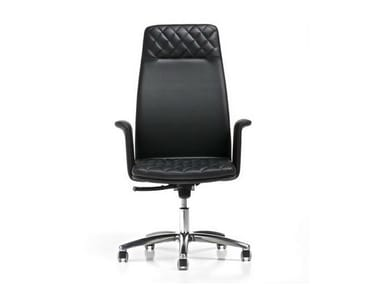 Executive chair with 5-spoke base with armrests QUEEN | Executive chair with headrest