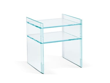 Side table with integrated magazine rack QUILLER | Coffee table with integrated magazine rack