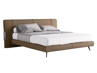 Upholstered Nabuk double bed QUINCY