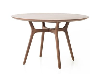 Round wooden table RÉN DINING TABLE C1100