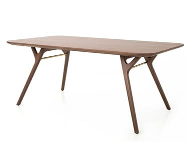 Rectangular wooden living room table RÉN DINING TABLE
