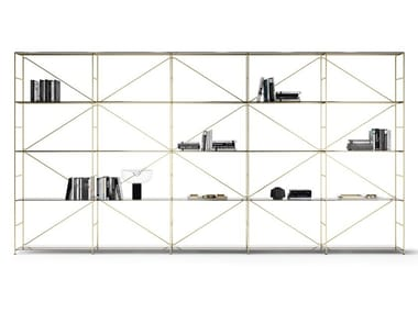 Shelving system with powder coated steel structure R.I.G. MODULES SHELVING SYSTEM