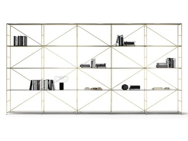 Shelving system with powder coated steel structure R.I.G. MODULES