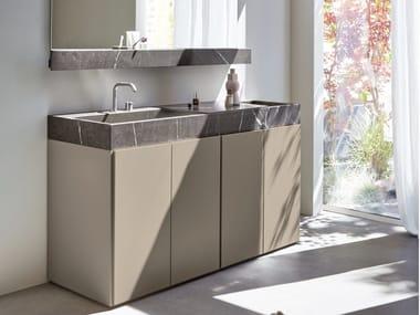 Top in marmo con lavabo monovasca R1 | Lavabo rettangolare