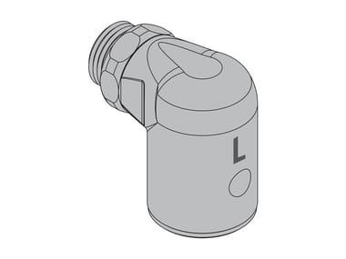 Valvola laboratorio comando maniglia sul tubo flessibile R4 Valvola 90° da laboratorio