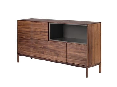 Wooden sideboard with doors RABA | Sideboard with doors