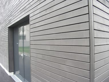 Outdoor spruce wall tiles RADIALWOOD