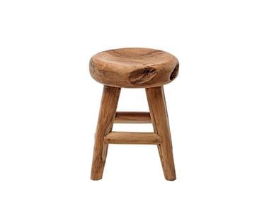 Low teak garden stool RADICE | Stool